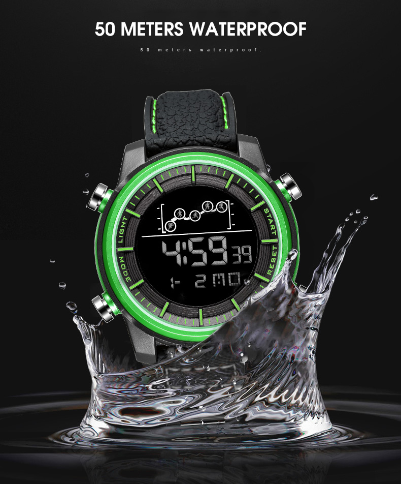 SMAEL Quartz Men's Watches lovers Oversize LED Digital Fashion watch S waterproof luxurious 1556 stainless steel for male watch 7