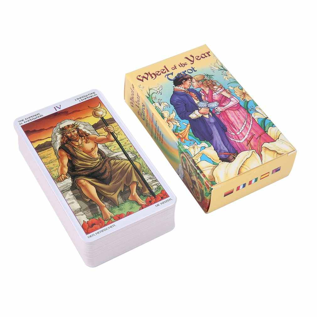 Wheel Of The Year Tarot Read Fate Tarot Card Game For Personal Use Board Game A 78-card Deck And Guidebook