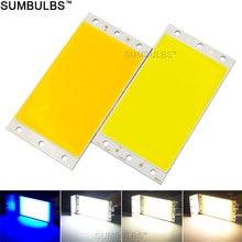 Sumbulbs DIY светодиодный панельный светильник 94x50 мм 1500LM ультра яркий теплый натуральный холодный белый синий DC 12 В 15 Вт плата COB светодиодный светильник