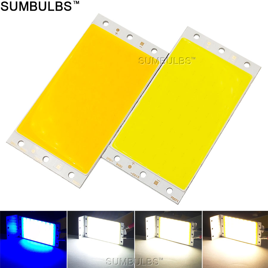 Sumbulbs DIY LED-Panel Licht 94x50 MM 1500LM Ultra Helle Warme natur Cold White Blau DC 12 V 15 Watt COB Bord LED lampe