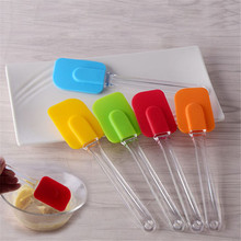 Silicone Spatula Baking Scraper Cream Butter Handled Cake Cooking Brushes Smoother Pastry Tools