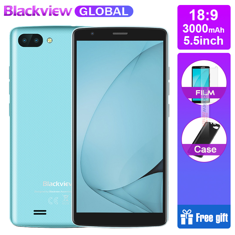 Blackview A20 18 9 5 5 inch Smartphones Android Go dual Camera 1GB RAM 8GB ROM
