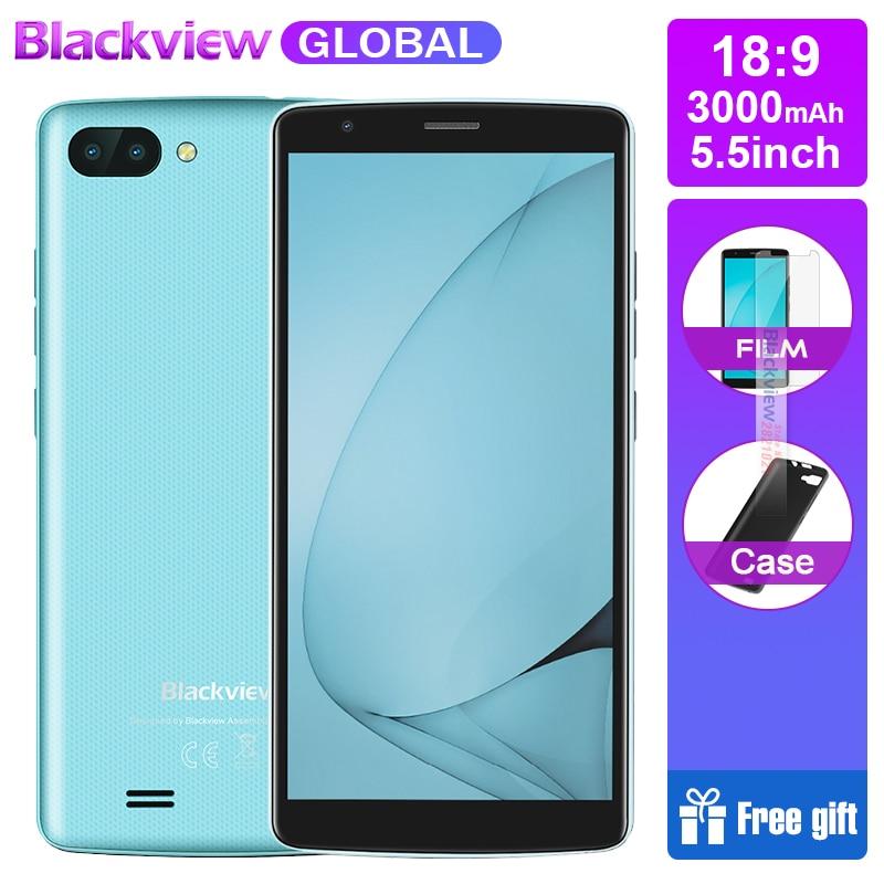 Фото. Blackview A20 18:9 5,5 дюймовые смартфоны Android Go двойная камера 1 ГБ ОЗУ 8 Гб ПЗУ четырехъядерны