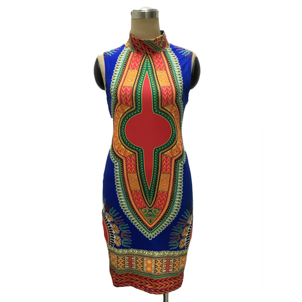 2017 New Summer plus size African Print Dashiki dress for women ...