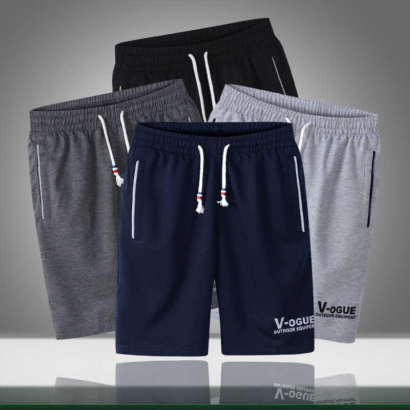 Letnie męskie spodenki Casual Loose Jogger spodenki do kulturystyki męskie ubrania sportowe krótkie spodnie duże rozmiary w pasie bermudy Masculina