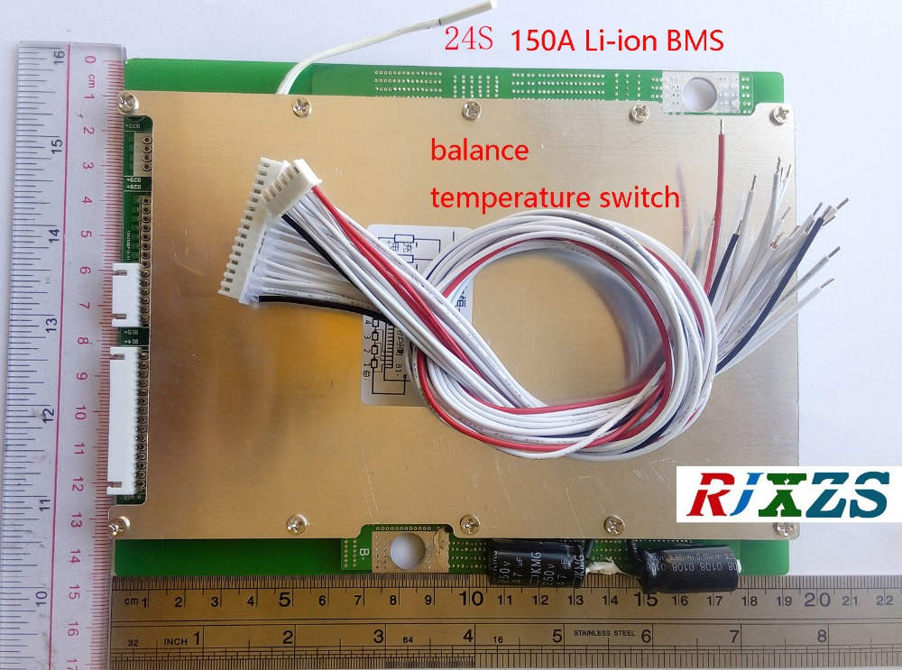 24S 150A lipo lithium Polymer BMS PCM PCB battery protection board for 24 Pack 18650 Li