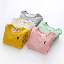 The baby cat 2016 winter Han new girl kids children with cashmere thickened bottoming shirt tx-7809