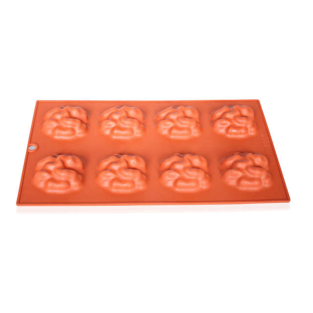Placeholder 8 Cavity Zombie Brain Silicone Cake Mould Chocolate Soap Molds Kitchen Accessories Baking