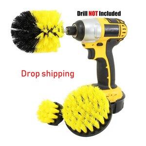 Image 1 - Brosse de nettoyage électrique, 3 pièces, brosse de nettoyage, pour les Surfaces de la salle de bain, baignoire, douche, carrelage, sans fil, Kit de nettoyage