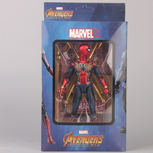 цена на 17CM Avengers Iron Spider man Tamashii Stage spiderman Infinity War Action Figure Collection Model Doll Toys Gift