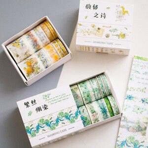 10 Rolls/set Cute Flowers Japa