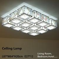 Large Modern Chinese Style 12 Heads 144W Living Room LED Lamp Light Hotel Hall Light LED Lamp 30 Square Meter Illumination Area