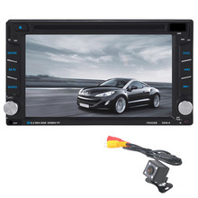 Tiptop 6.2 Inch GPS Navigation HD Double 2 DIN Car Stereo DVD Player Bluetooth Radio MP3 In Dash + Camera 100NCD90 Car-styling