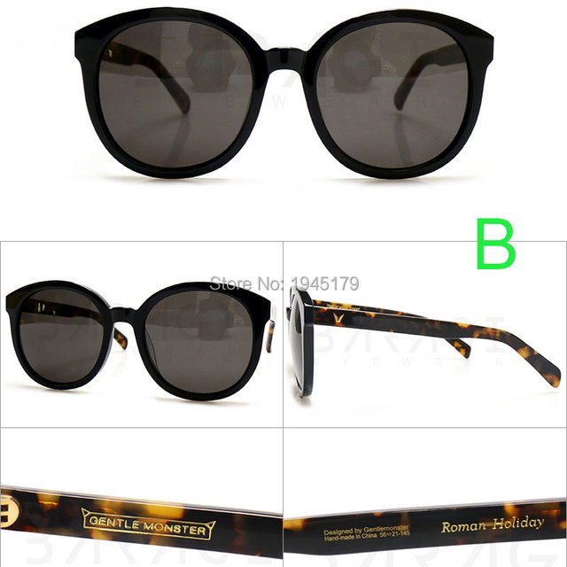 5c9ed9afffc63 2015 Women Brand Sunglasses Authentic Roman Holiday Gentle Monster with  original box and accessories Multi colors available