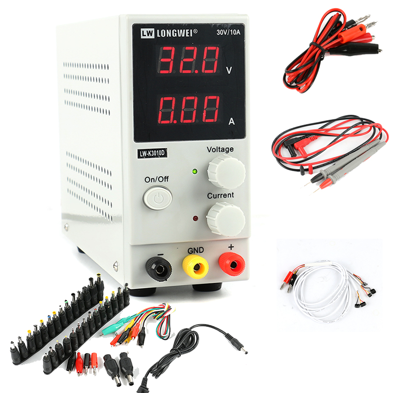 цена на 30V 10A DC Switching Power Supply LW-3010D Mini Adjustable Digital Laboratory Power Supply Phone Repair Kits EU/AU/US Plug