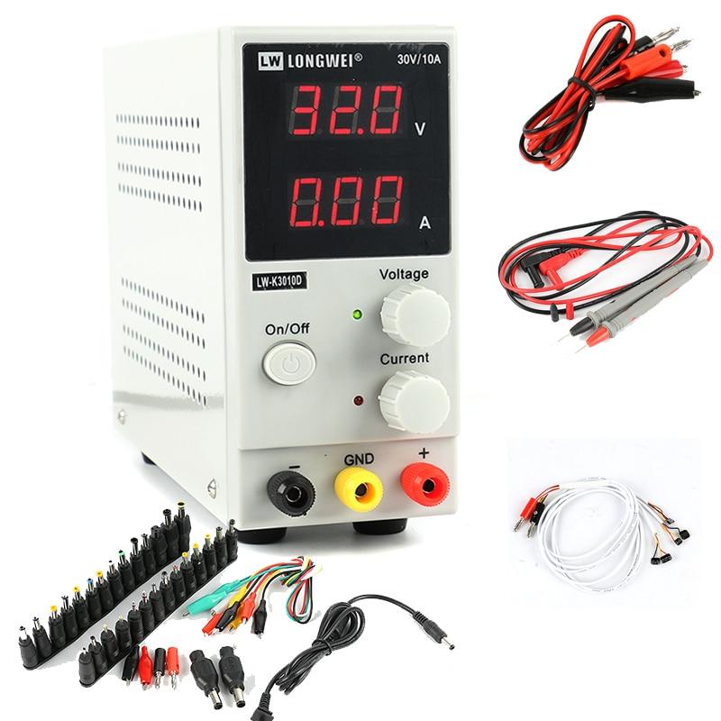 30V 10A DC Switching Power Supply LW 3010D Mini Adjustable Digital Laboratory Power Supply Phone Repair Kits EU/AU/US Plug