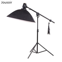 Photography Softbox Flash Lighting Kits 110V 180ws Storbe Flash+Lightbox+Stand+Boom Arm Photo Studio Accessories