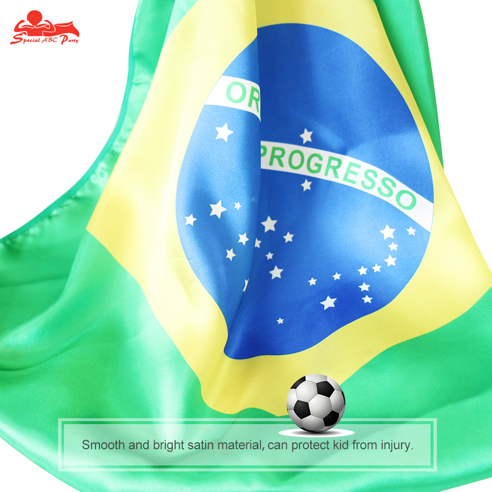 Home Hot Sale Special 70*70 Cm Brazil Flags Mask Cape World Cup Soccer Brazilian Soccer Fans Stadium Celebrate Supporters Gift Carnival Gifts Be Friendly In Use