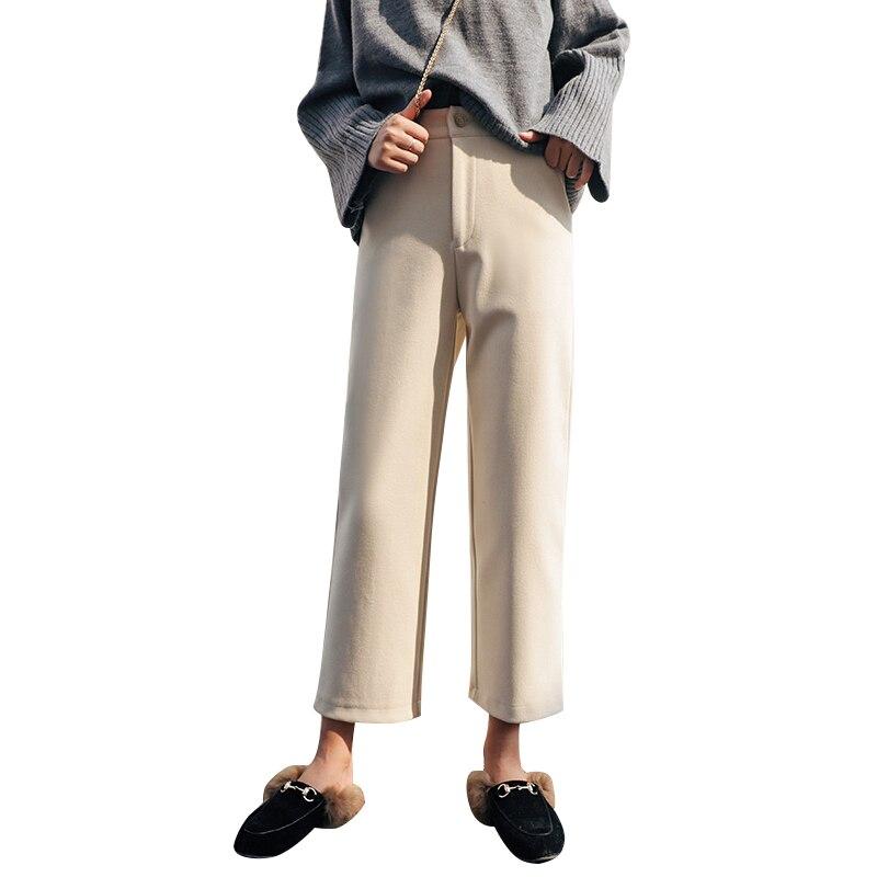 2019 New Winter Trousers   Wide     Leg     Pants   Autumn Women's Nine Points   Pants   Women   Wide     Leg     Pants   Fashion Women Clothing
