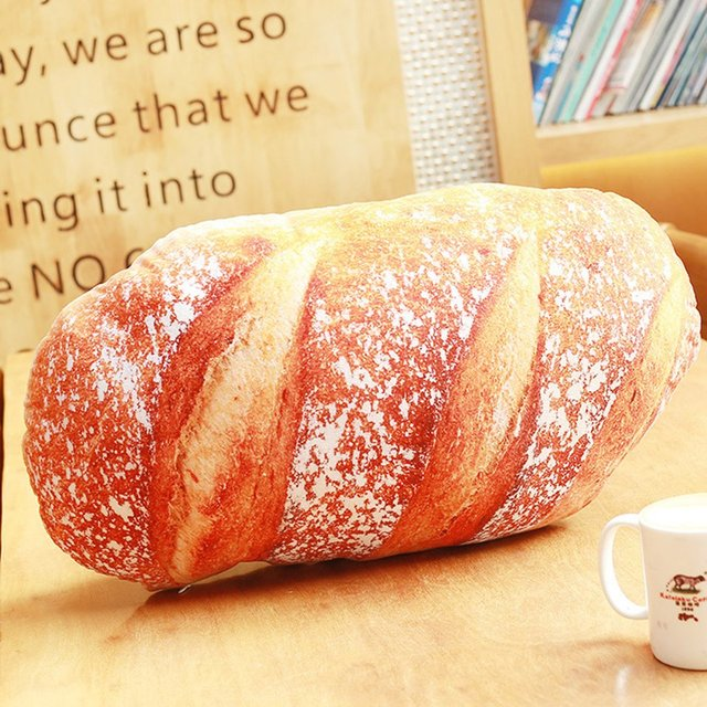French Baguette Pillow Funny Bread Cushion Pillow Decor for Home Living Room