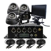4CH SD H.264 I/O GPS G-sensor Track Car Vehicle DVR Video Recorder Kit Car CCTV Camera 7″ LCD For Truck Van Bus Free Shipping