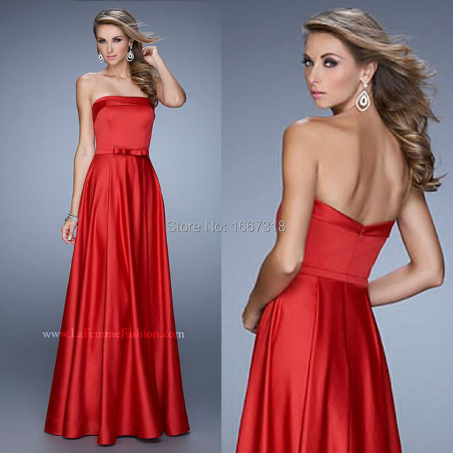 3e6da373040 Vestido De Festa De Casamento Elegant Long Party Dress Satin Red Long  Dresses Evening 2015