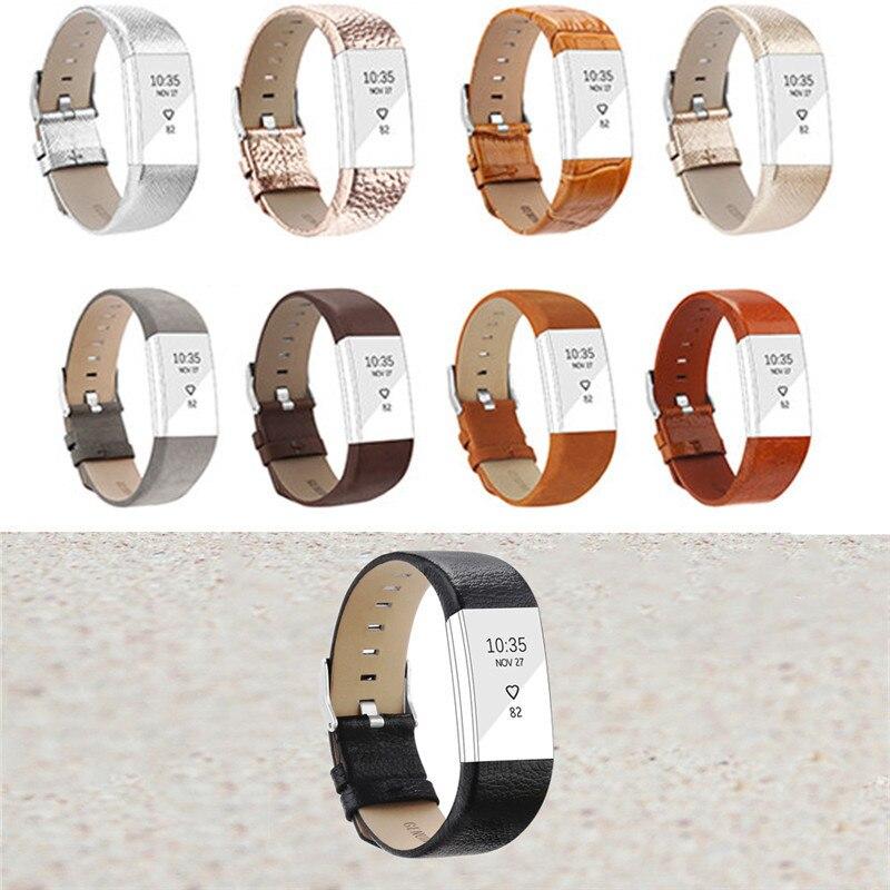 Hot Echtes Leder Strap Für Fitbit Gebühr 2 Smart Armband Ersetzen Band Für Fitbit Gebühr 2 Herz Rate Armband Ersatz