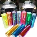 100*30 CM Camaleones Cambian de Color Lámpara de Faro Pegatinas Flashpoint DIY Película Linterna Del Coche Lámpara De Cola Pegatinas de Cine