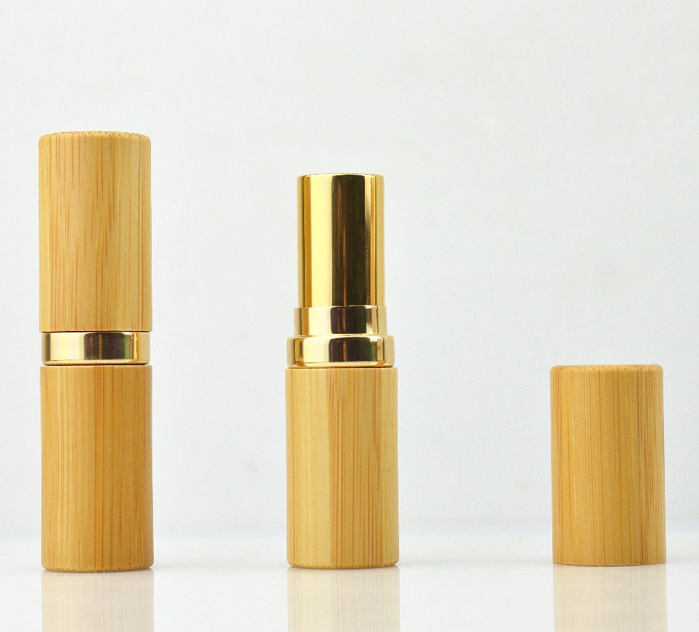 20/50pcs 4.5g Classical Bamboo Wooden Lipstick Tube,Natural Lip Gloss Pipe Shell.DIY Empty High-end Bamboo Lipstick Container