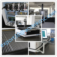 Metal Sheet Fiber Laser Cutting Machines 300W 500W 1000W IPG Raycus Laser Cutter For metal material