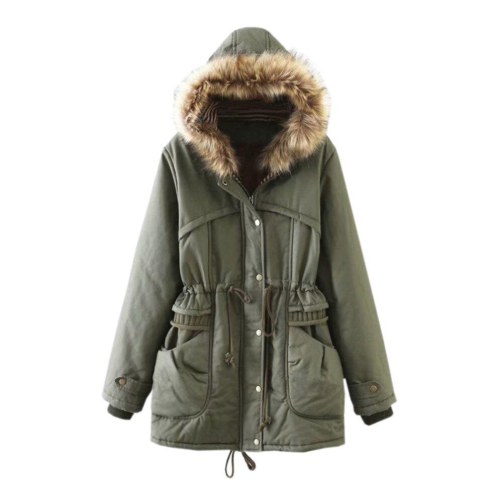 Army Chaud Mode Veste Femmes Longues Manteaux Automne Manteau Manches Air Green 2018 D'hiver Polaire Capuche En Femme Plein Poche De Vent À Mujer Zip ZBxEqU