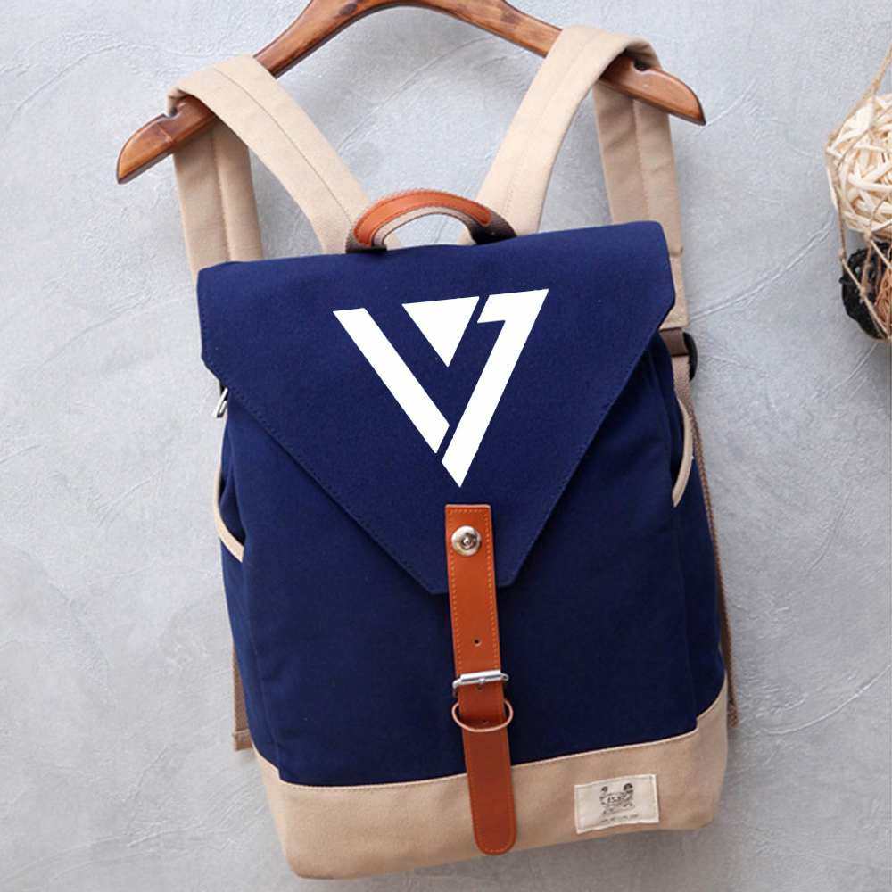 Men's Bags Wishot Seventeen 17 Backpack Canvas Bag Schoolbag Travel Shoulder Bag Rucksacks For Women Girls Luggage & Bags