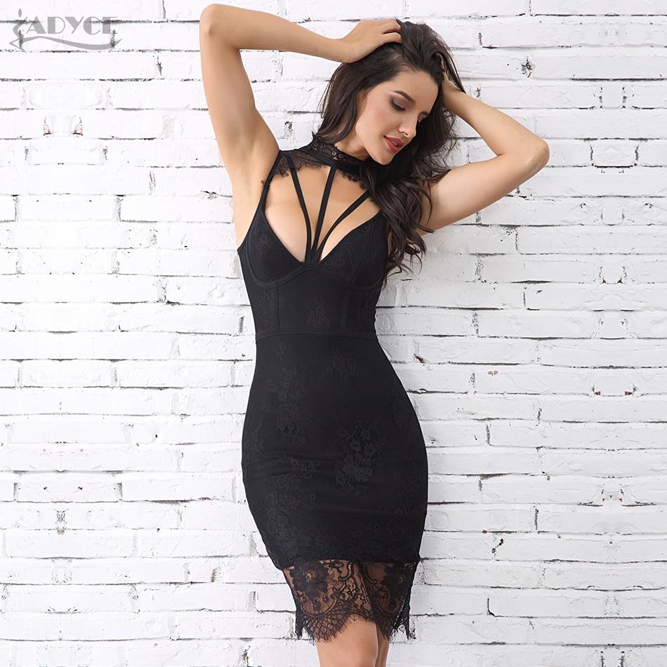 31ab608e37ec Adyce καλοκαιρινή φόρεμα γυναικών φόρεμα Vestidos Verano 2018 νέα σέξι  αμάνικα κοίλη έξω Midi δαντέλα δεξαμενή λέσχη φορέματα φορέματα φορέματα