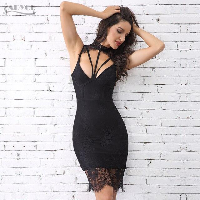 Adyce Summer Women Bandage Dress Vestidos Verano 2019 New Sexy Sleeveless  Hollow Out Midi Lace Tank dd1b212ce
