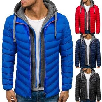 e8dafe6168b Zogaa зимнее пальто Для мужчин Повседневное Hoodied пузырь хлопок подкладка  парка Костюмы зимняя куртка Для мужчин