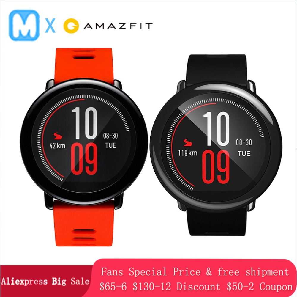 English Version Huami Amazfit Pace Smart Watch Gift GPS outdoor running Smartwatch Wearable Devices 1 2GHz