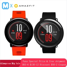 Купить с кэшбэком English Version Huami Amazfit Pace Smart Watch Gift GPS outdoor running Smartwatch Wearable Devices 1.2GHz 512MB/4GB for Xiaomi