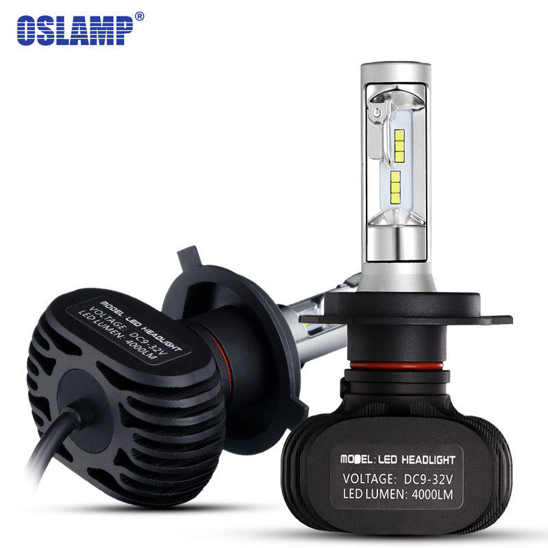 Oslamp H4 H7 H11 H13 9005/HB3 9006/HB4 Car Led Headlight Kits High/Dipped Beam CREE CSP Chips Fog Bulbs Fanless 6500K 12V 24V  2pcs car headlight bulbs dipped beam
