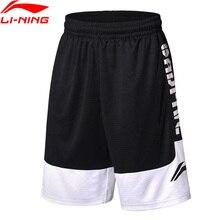Li-Ning мужские шорты BAD FIVE для соревнований по баскетболу, свободные, удобные, дышащие, спортивные шорты AAPN041 CAMJ18