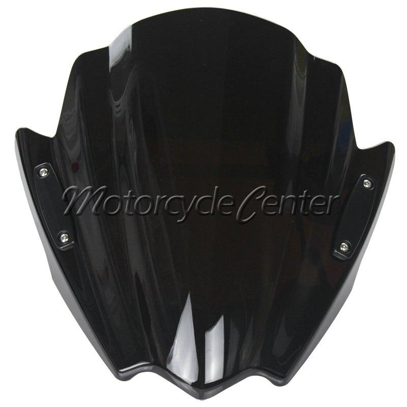 Motorcycle Street Bike Wind Deflectors Windshield Windscreen For 2012-2015 Honda NC700S/X NC700X CTX700N Grom MSX 125 Dark Smoke motorcycle street bikes wind deflectors windshield windscreen for 2006 2014 yamaha fz1 fz1n fz6 s2 fz8 fz 6 8 dark smoke 08 12