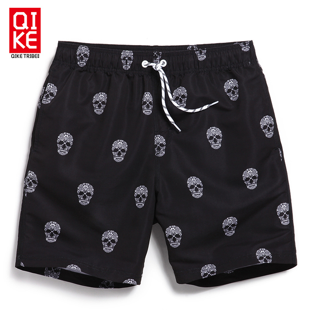 Boardshorts men surf swimsuit beach sport running shorts mens skull bermuda masculina surf gym joggers large size swimwear