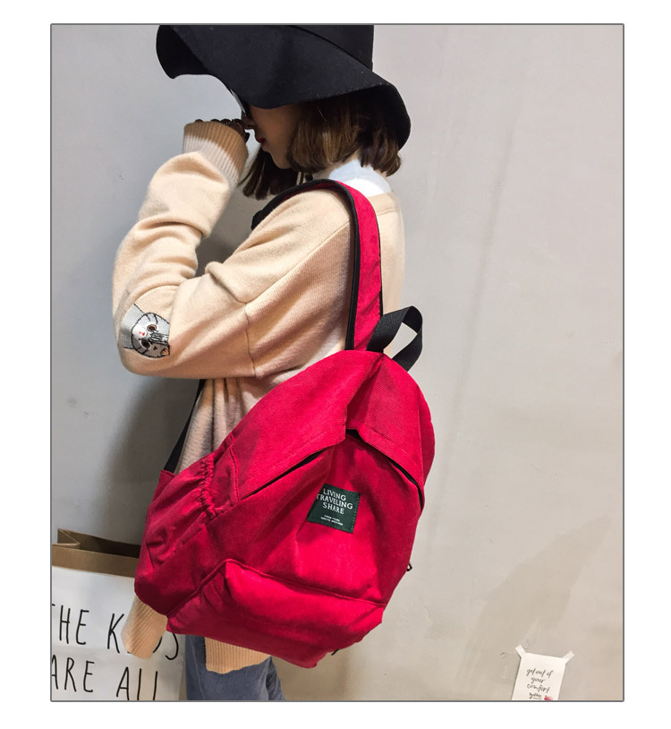 HTB1BW9nB8mWBuNkSndVq6AsApXaU Women Striped Corduroy Backpack Female Eco Simple Cloth Bag Large Capacity Vintage Travel Bags School Backpack for Teenage Girls