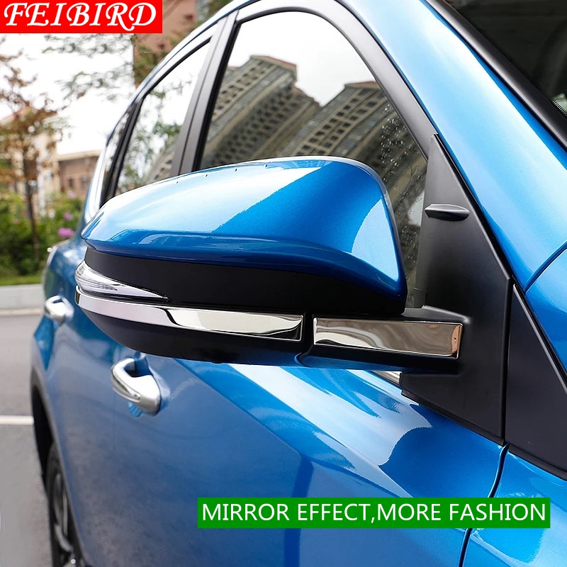 304 Stainless Steel For TOYOTA RAV4 RAV 4 2014 2015 2016 2017 2018 Side Door Mirrors Rearview Stripe Cover Trim Kit in Chromium Styling from Automobiles Motorcycles