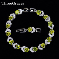 6 Color Options 925 Sterling Silver Clear White And Olive Green Cubic Zircon Diamond Fashion Friendship