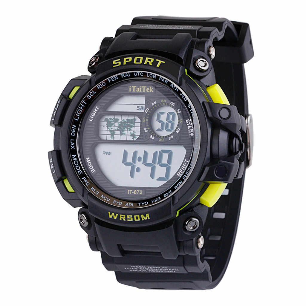 Zegarek damski na rękę cyfrowy wielofunkcyjny Luminous wodoodporny zegarek sportowy moda elektroniczny zegarek bayan kol saati