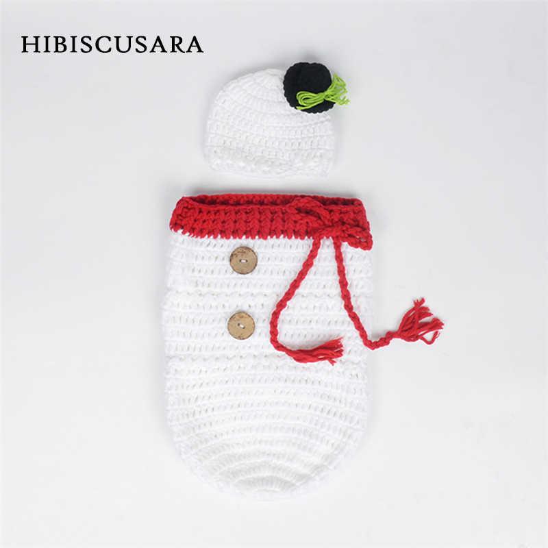 Envoltura para fotografía de punto de ganchillo para bebé recién nacido, saco de dormir de Papá Noel y alce de Bebe de Navidad + sombrero, disfraces de Navidad, accesorios utillería de fotografía