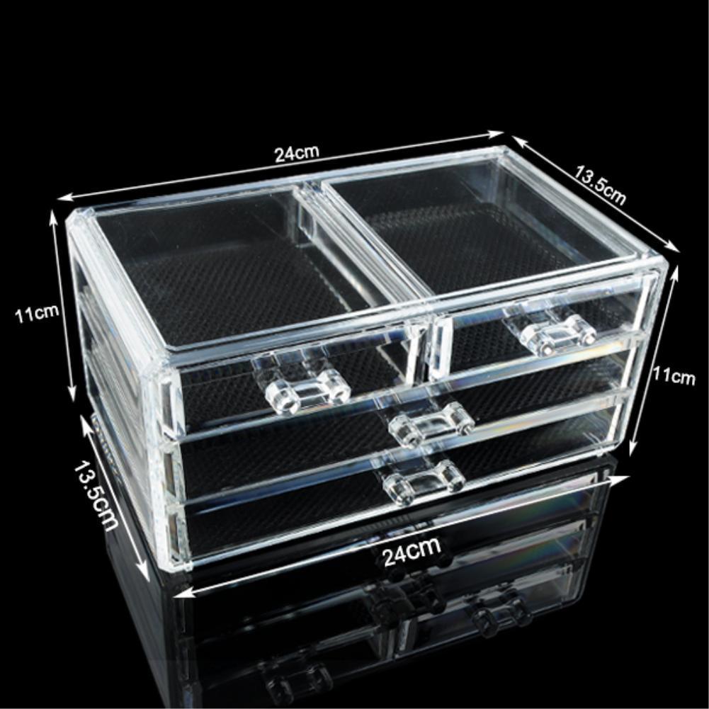 Cheap+49%off Acrylic Makeup Organizer cosmetic makeup jewelry lipstick brush 4 drawers clear acrylic case organizer storage box-in Storage Boxes u0026 Bins from ... & Cheap+49%off Acrylic Makeup Organizer cosmetic makeup jewelry ...