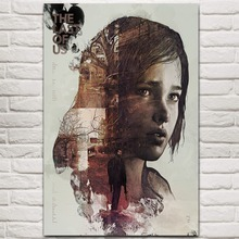NUOMEGE The Last of Us Silk Fabric Wall Poster Print Zombie Survival Horror Action TV Game Pictures 12x18 20x30 24x36 inches