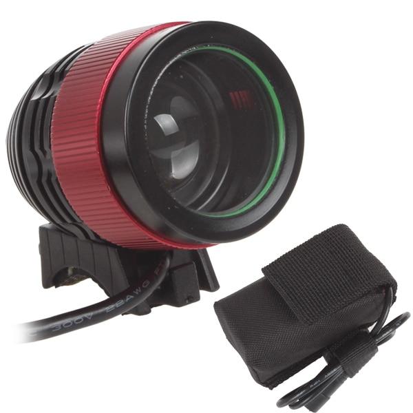Pārdošanas drošība NEW 2000LM 1x XM-L T6 LED velosipēdu apgaismojums un velosipēdu LED priekšējais lukturis ar uzlādējamu akumulatoru