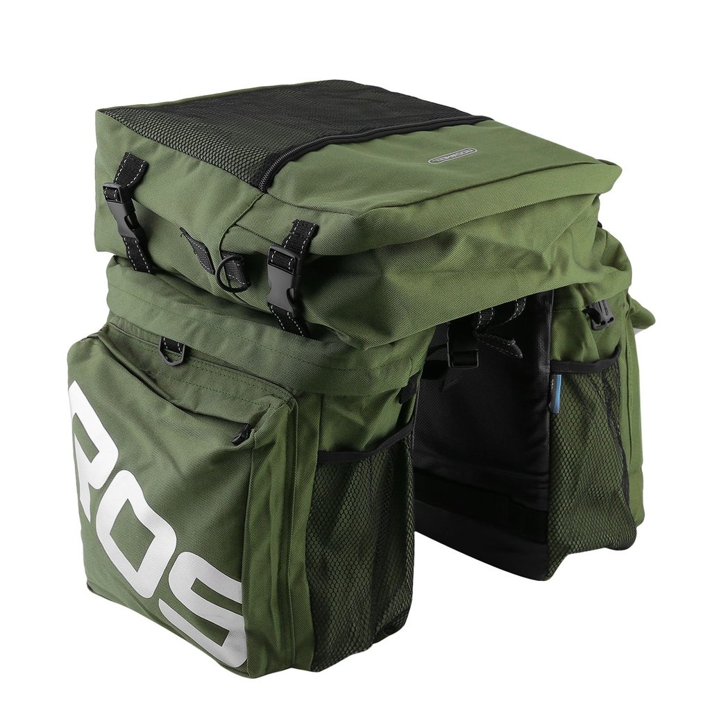 (Ship From Russia / China) ROSWHEEL 3 In 1 Mountain Bike Carrier Rack Bag Multifunctional Bicycle Luggage Pannier Rear Seat Bag roswheel 50l bicycle waterproof bag retro canvas bike carrier bag cycling double side rear rack tail seat trunk pannier two bags